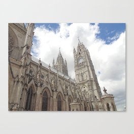 La Basílica del Sagrado Voto Nacional, Tres Canvas Print