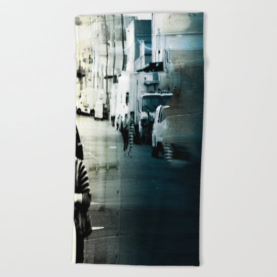 City Stripes Beach Towel
