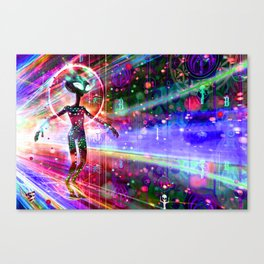 Space Time Jumper Canvas Print