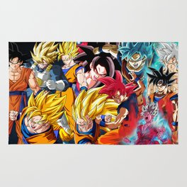 Goku All Transformations Rug