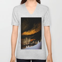cloudy with a chance of meatballs Unisex V-Neck