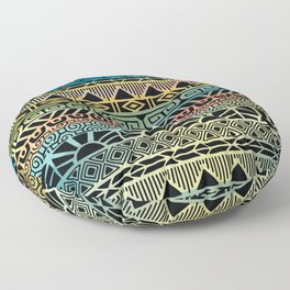Aztec Teal Floor Pillow