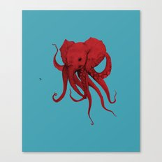 Elephant-Octopus Canvas Print