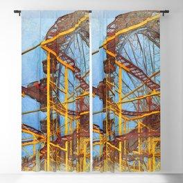 Munich Beer Festival - Roller Coaster & Ferris Wheel Blackout Curtain