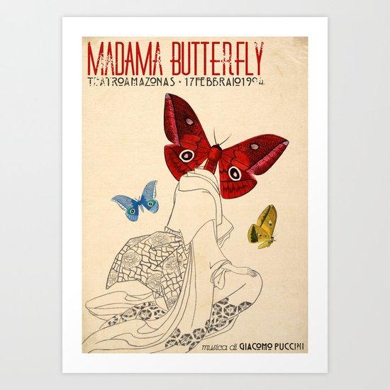 Madama Butterfly Art Print