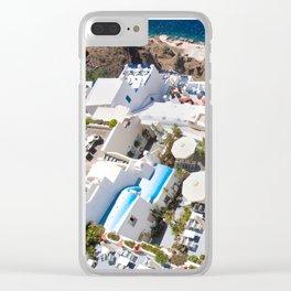 Hawks Eye on Greece Clear iPhone Case