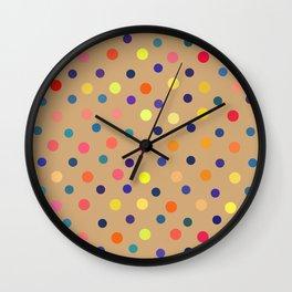 Sixties Polka Dot Patten Wall Clock