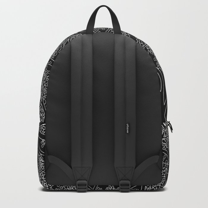 Tree Repeat Black Backpack