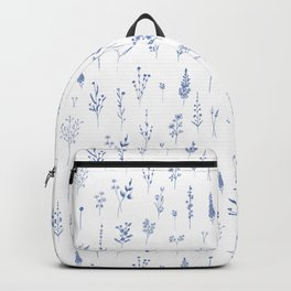 Wildflowers in blue Backpack