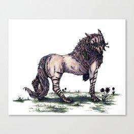Wolf Princess Canvas Print