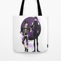 yaoi Tote Bags featuring Skelender by Jackce