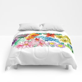 Hand Painted Montana State Map Comforters