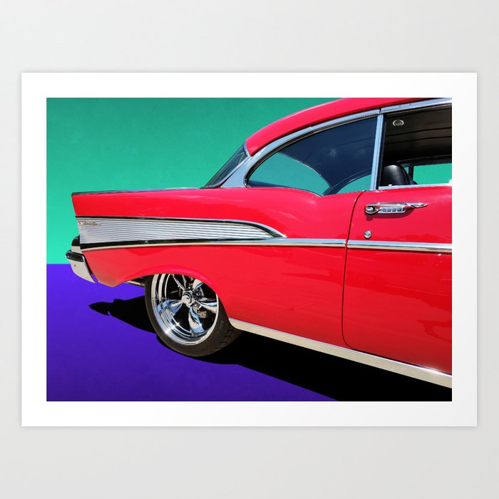 Studio Dalio - Chevrolet Bel Air Rear Panel Art Print
