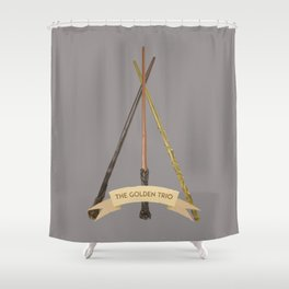 The Golden Trio Shower Curtain