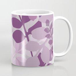 Ultra Violet Purple Lavender Leaves Pattern Coffee Mug