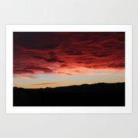 morning mountains Art Print