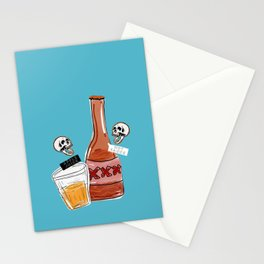 apple juice and hot sauce Stationery Cards