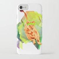 fitness iPhone & iPod Cases featuring Lioness fitness by veronica ∨∧