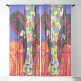 Calico Cow Sheer Curtain