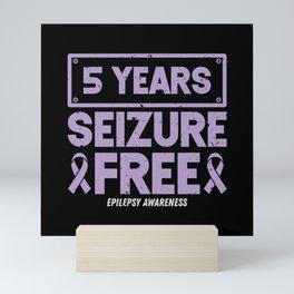 Epilepsy Awareness  5 Years Seizure Free Ribbon Mini Art Print