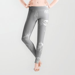 Woodland Critters in Grey Leggings