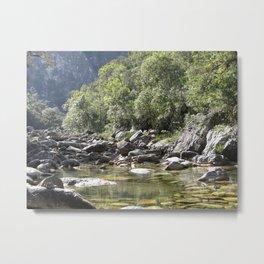 Casca d'Anta Waterfall, near the spring of São Francisco River. Metal Print