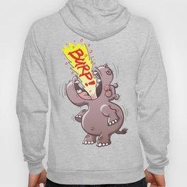 Hippopotamus Burping Loudly Hoody
