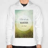 wander Hoodies featuring Wander by Olivia Joy StClaire
