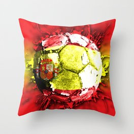 football  spain Throw Pillow
