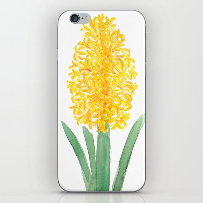 yellow hyacinth watercolor iPhone Skin