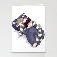 johnlock Stationery Cards featuring John & Sherlock by Arisu