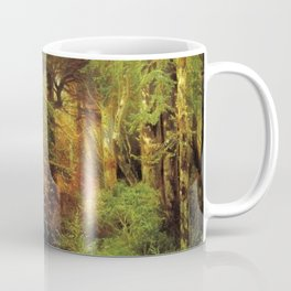 Forest Scene 1870 By Thomas Moran   Dense Woods Watercolor Reproduction Coffee Mug