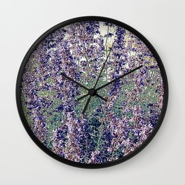 Lavender And Stone Wall Clock