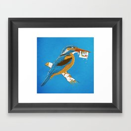 The KingFisher Framed Art Print