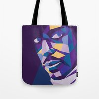prince Tote Bags featuring Prince by Liam Brazier