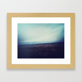 Into the Haze. Framed Art Print