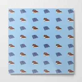 Shirt n Shoe Repeat Print- Blue Metal Print