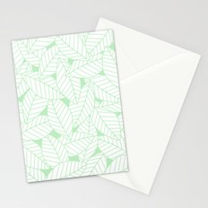 Leaves in Wintergreen Stationery Cards