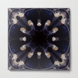 Kaleidoscope Jellyfish 01 Metal Print