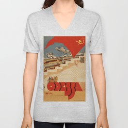 Vintage poster - Odessa Unisex V-Neck