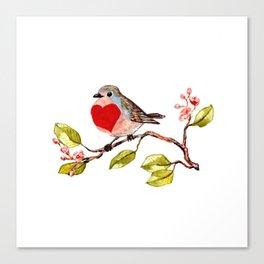 heart bird Canvas Print