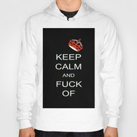 keep calm Hoodies featuring keep calm by laika in cosmos