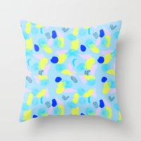 miami Throw Pillows featuring Miami  by Y A Y