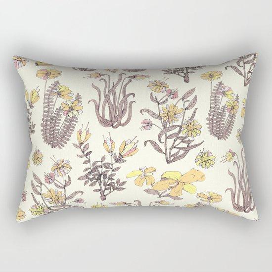 yellow garden Rectangular Pillow
