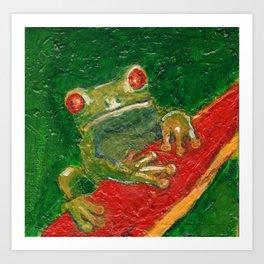 Red Eyed Frog Art Print