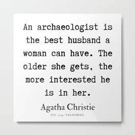 6 | Agatha Christie Quotes | 190821 Metal Print