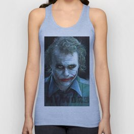Heath Ledger (the joker) Unisex Tank Top