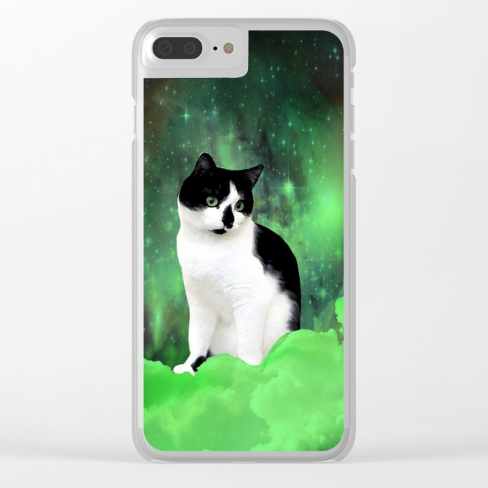 Gypsy Da Fleuky Cat and the Kitty Emerald Night Clear iPhone Case