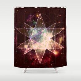 Galaxy Sacred Geometry : Stellated Icoshadron Warmth Shower Curtain
