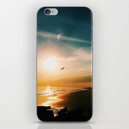 Winter Ocean Sunset iPhone Skin